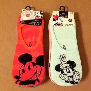 10 Pair Mickey & Minnie Mouse No Shows Socks 🧦
